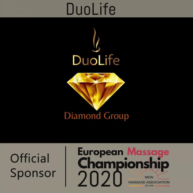 Duolife Diamond Group Official sponsor of the European massage Championship